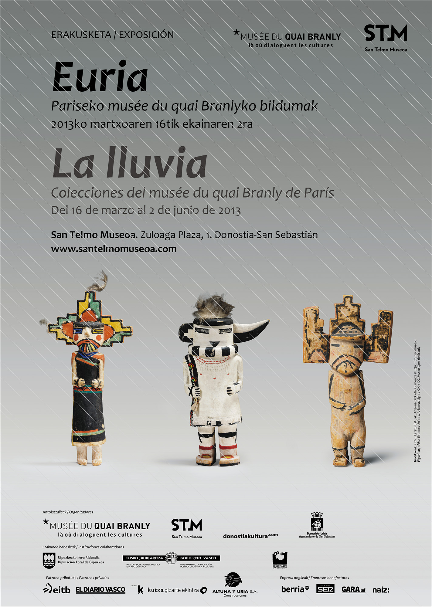 Línea gráfica para la exposición «Euria La Lluvia» en STM