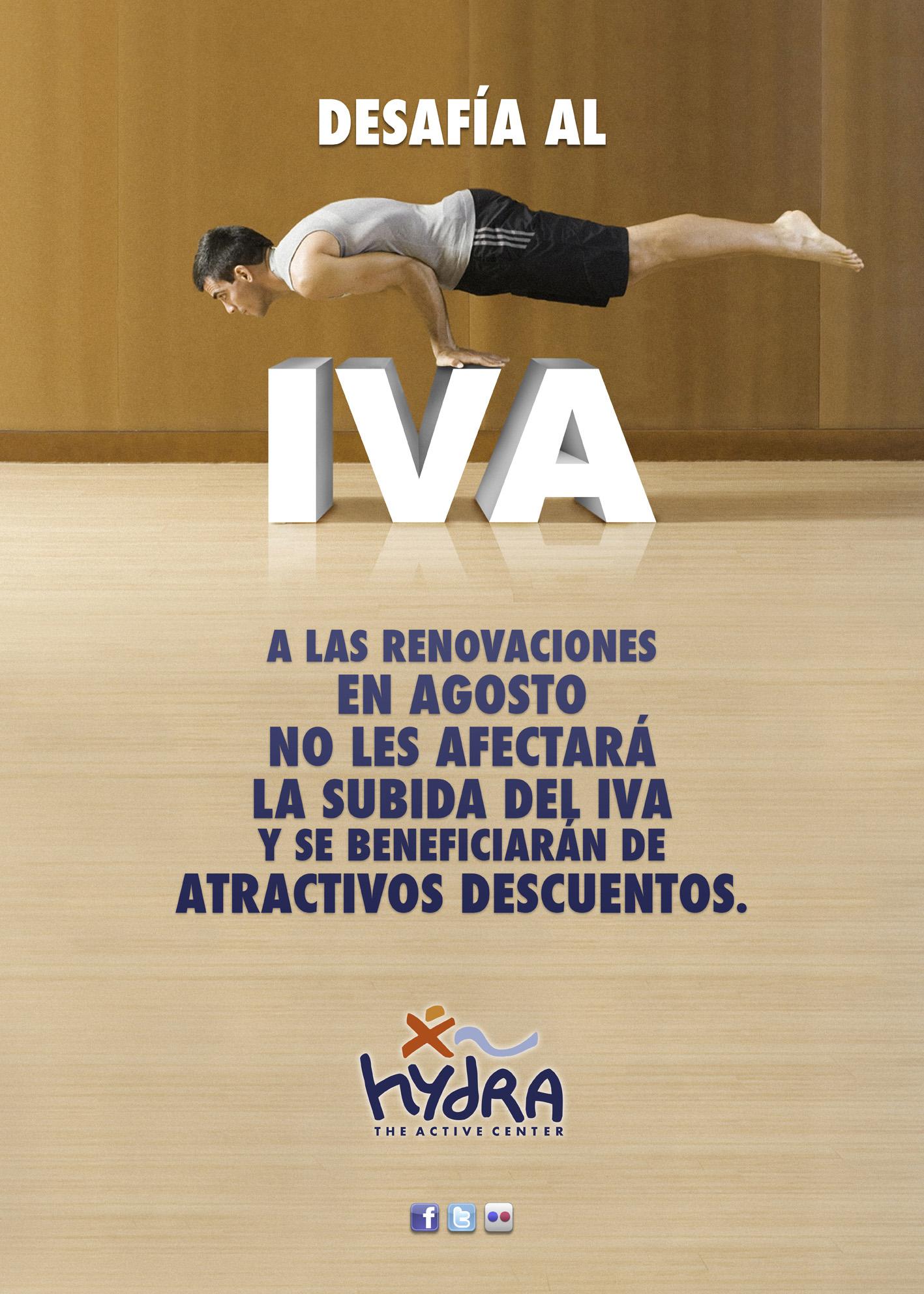 Publicidad para la campaña Desafía al IVA de Hydra