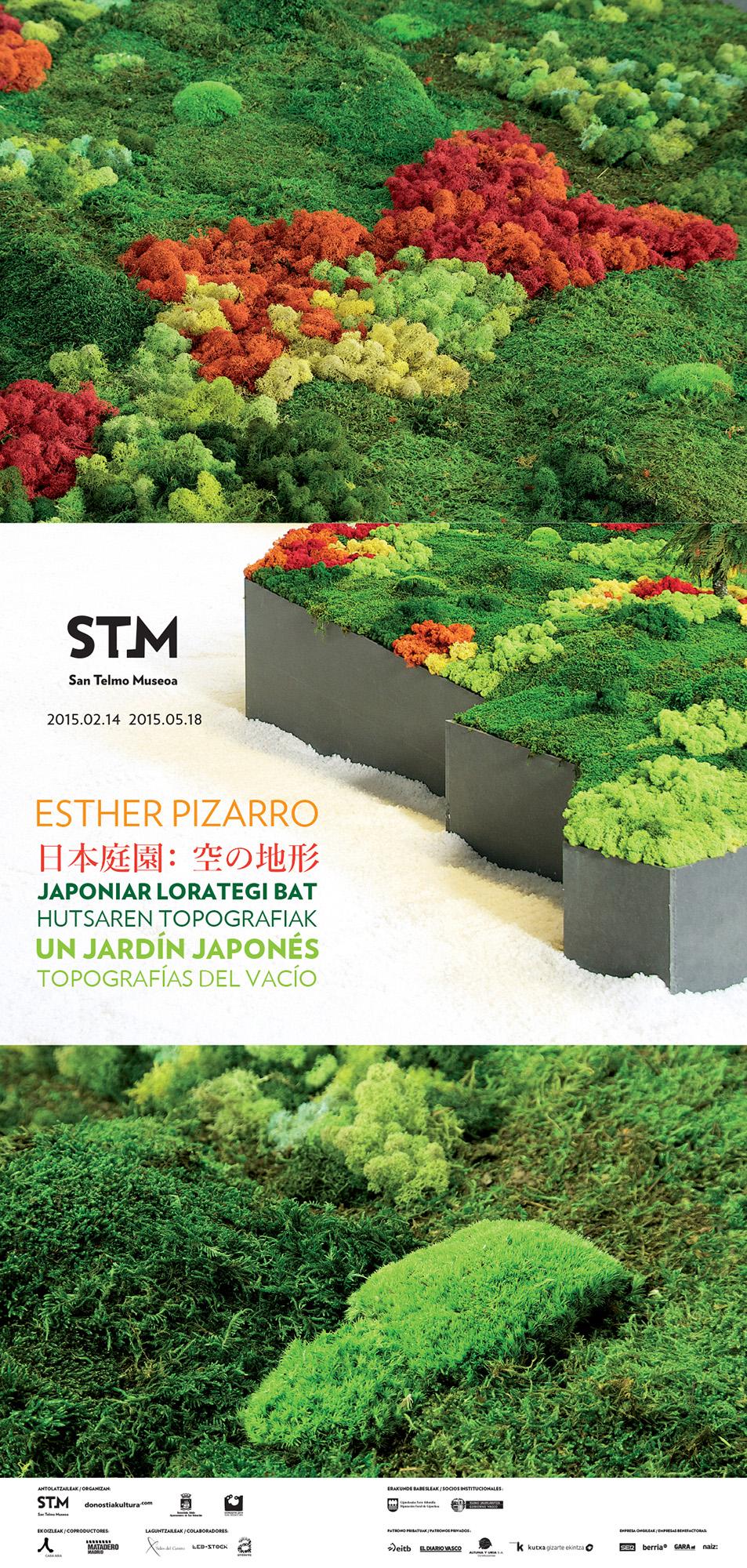 Línea gráfica para la exposición «Un jardín japonés» en STM
