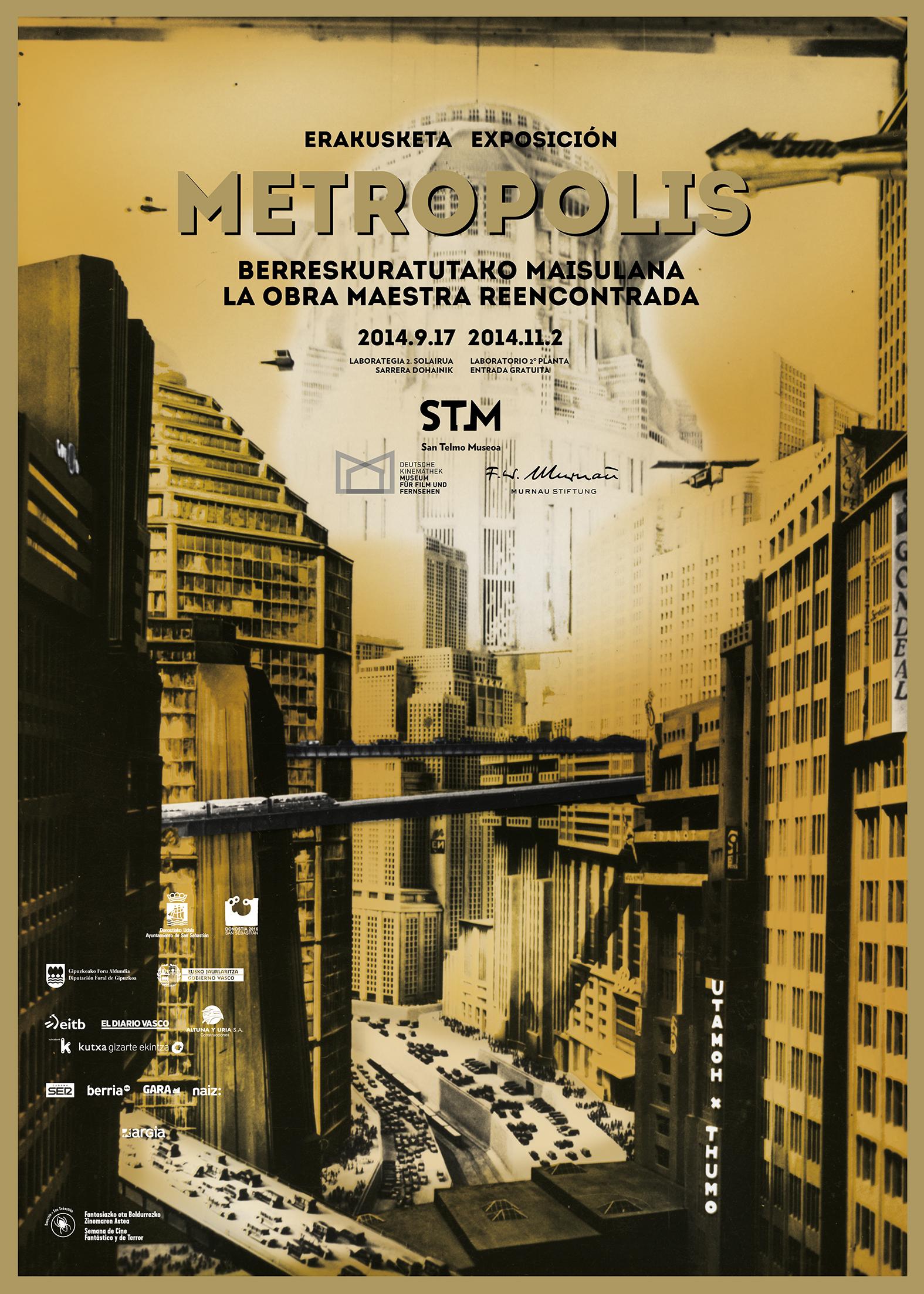 Línea gráfica para la exposición «Metropolis» en STM