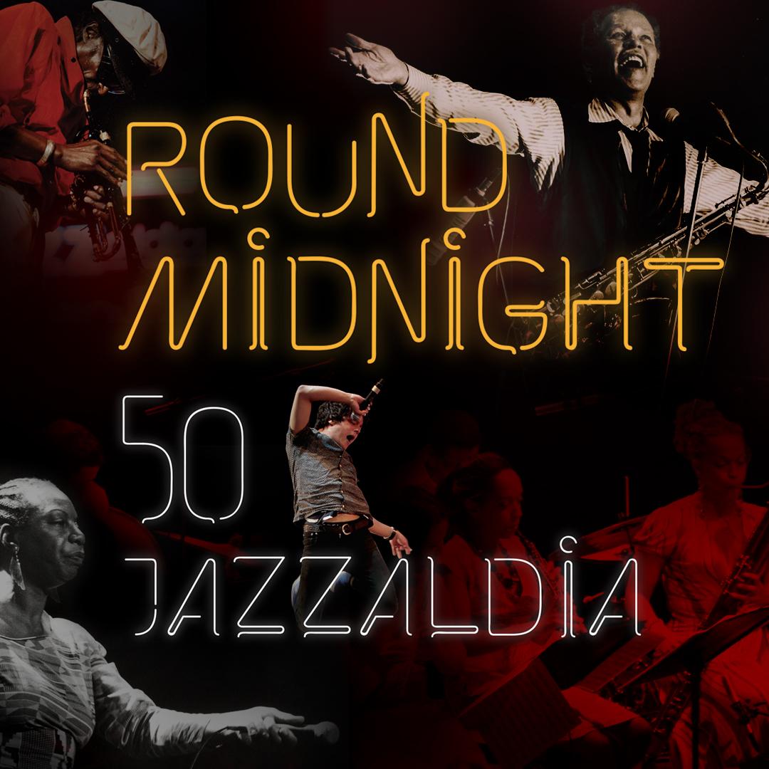 Línea gráfica para la exposición «Round Midnight 50 Jazzaldia» en STM