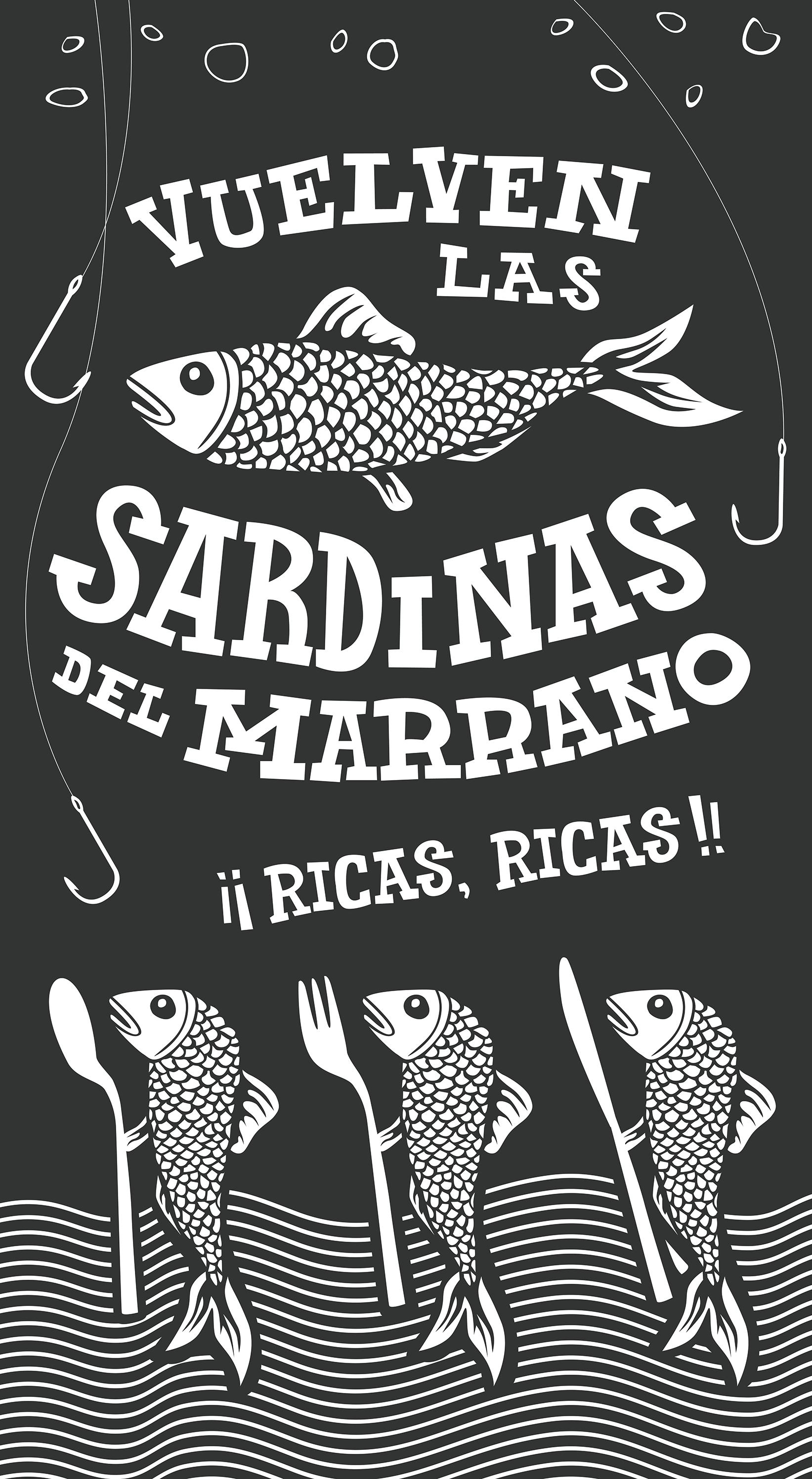 Cartel promocional para el bar Marrano