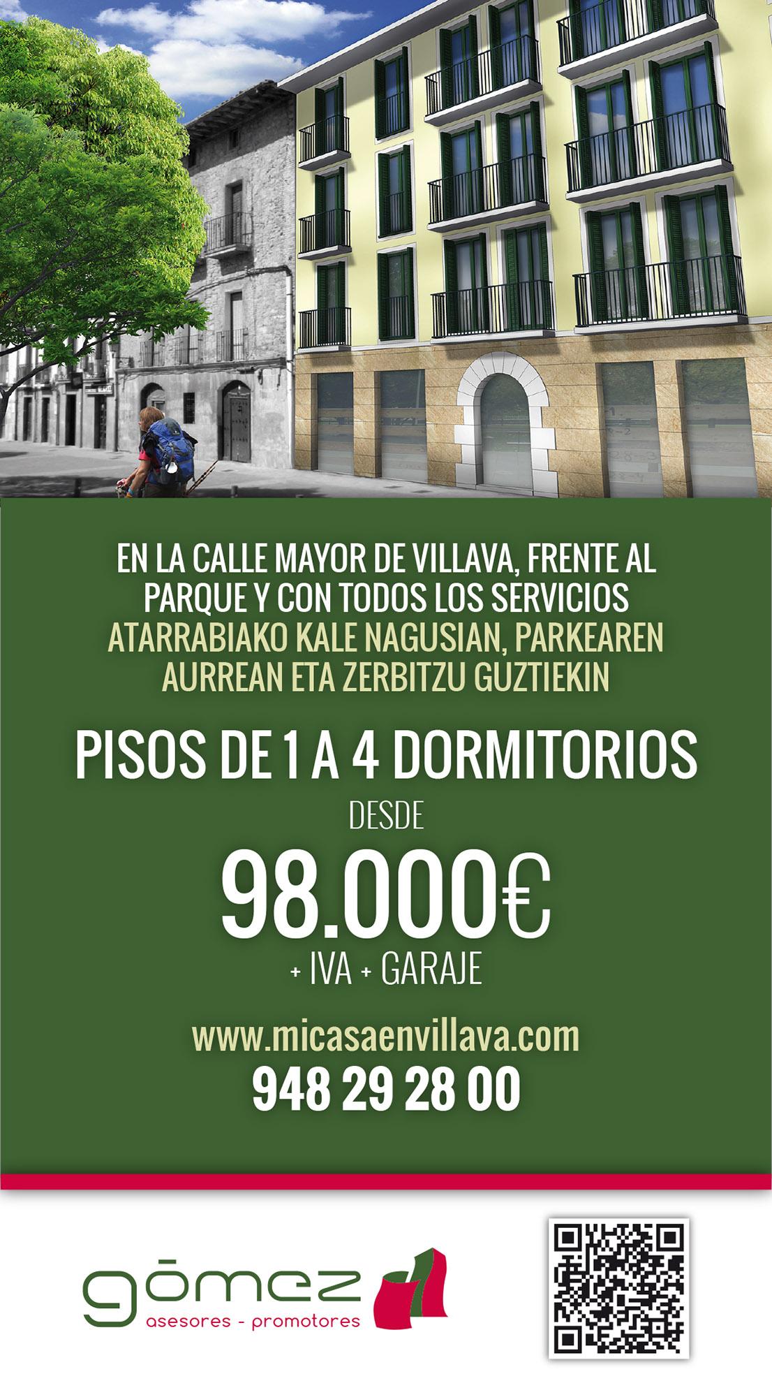 Campaña de publicidad para la promoción de viviendas de Inmobiliaria Gomez