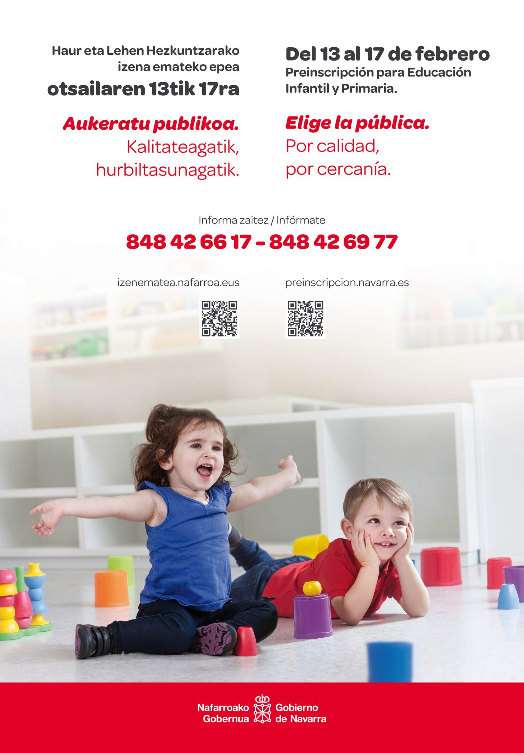 Imagen para la campaña de escolarización