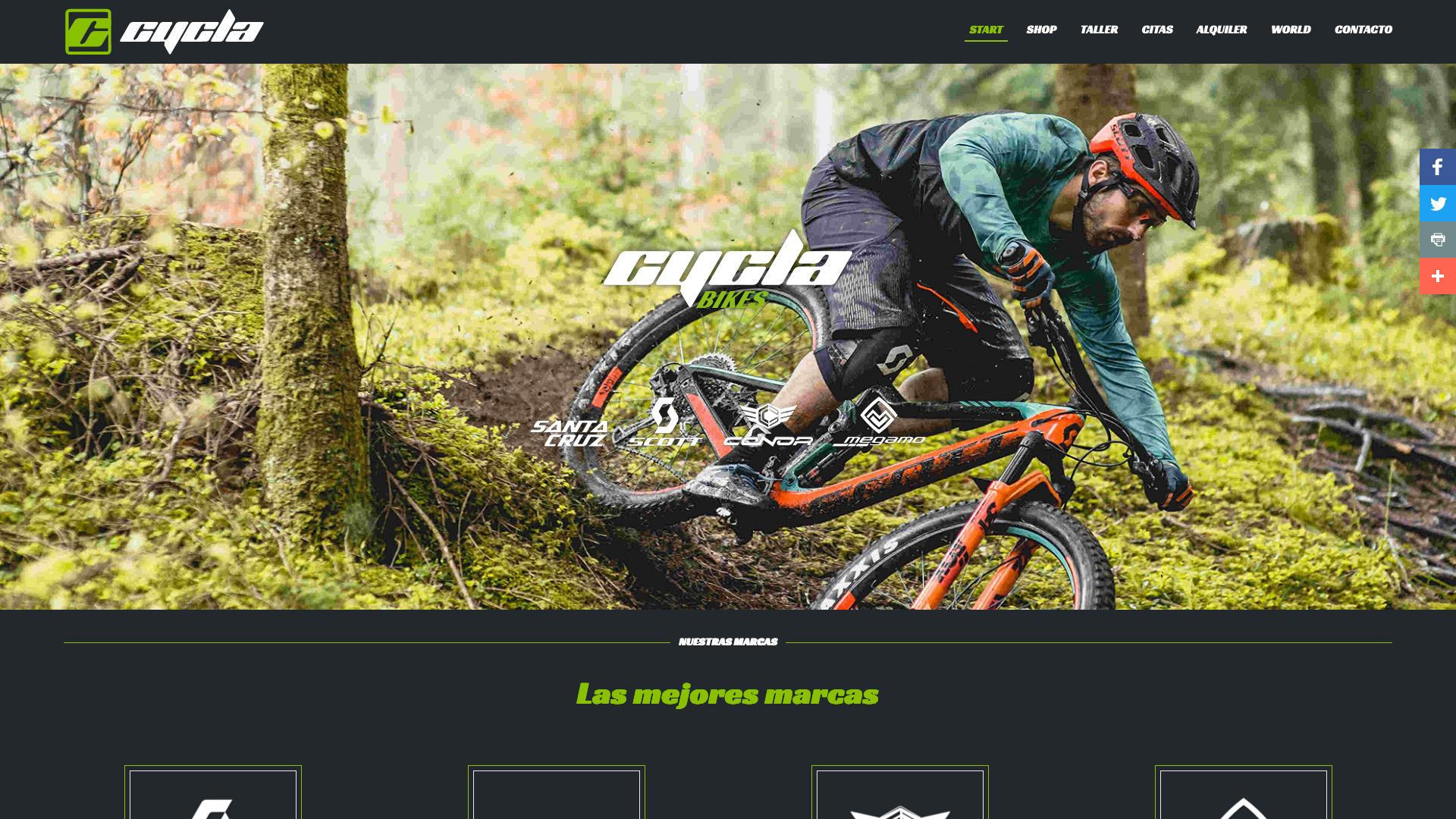 Diseño y desarrollo de sitio web para Cycla Bikes