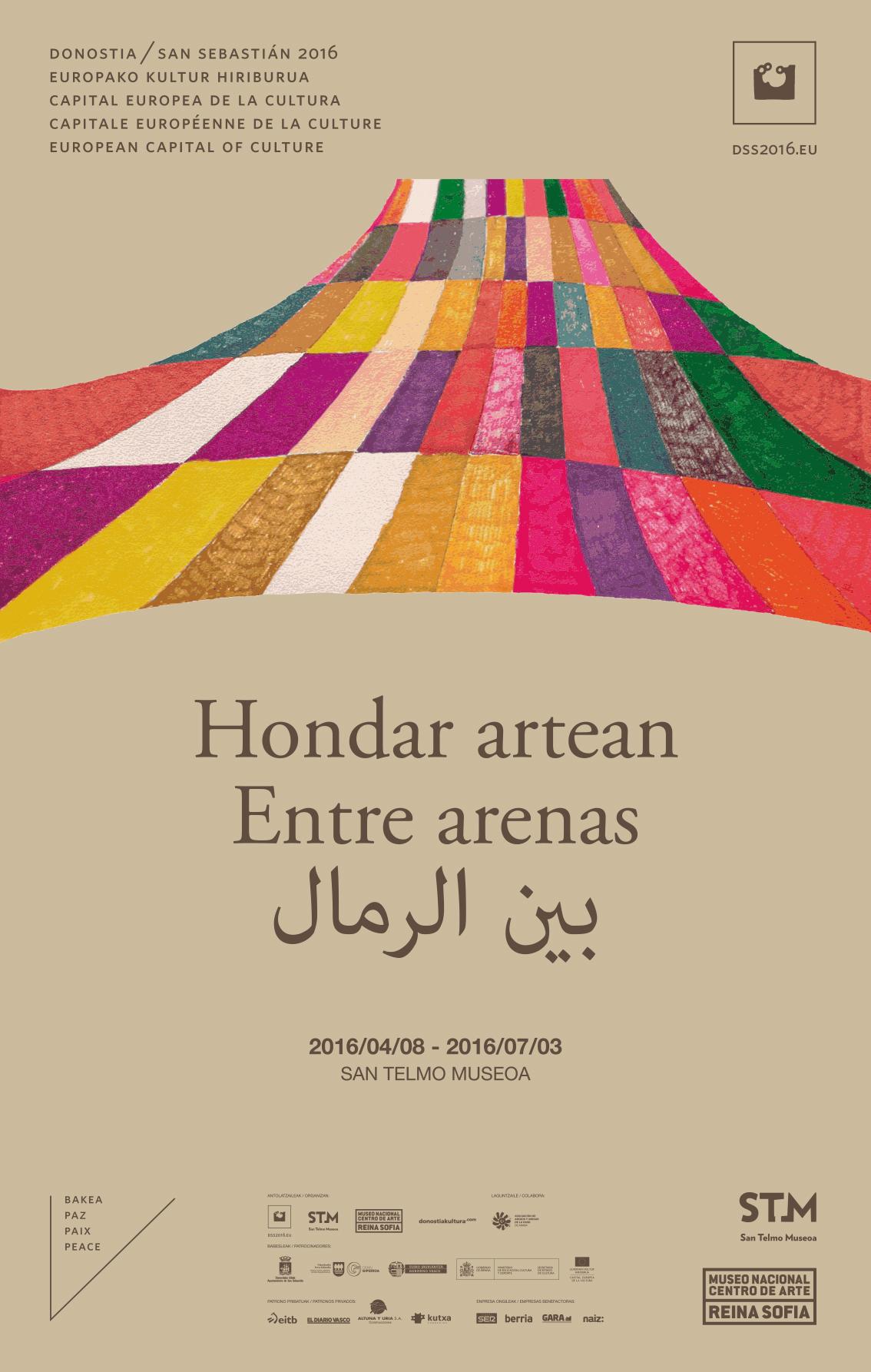 Línea gráfica para la exposición «Entre Arenas» en STM