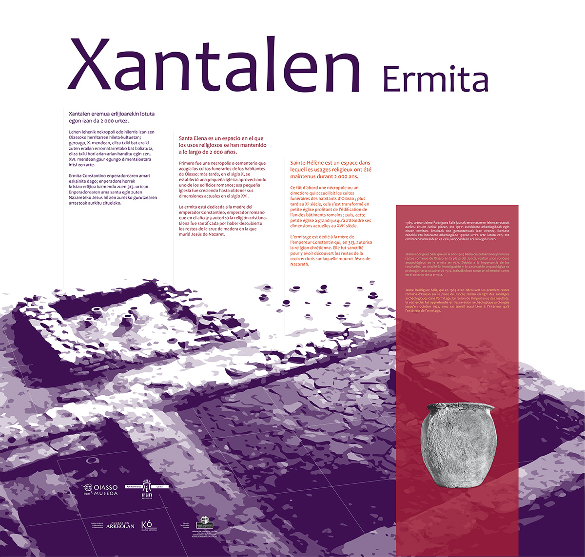 Línea gráfica para la exposición «Xantalen Ermita» en STM
